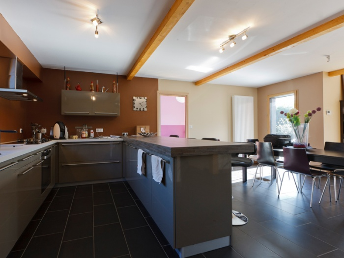 Interieur Maison Bois Contemporaine : Maison Bois Contemporaine BBC Par Ocube Architecte Dans La Banlieue