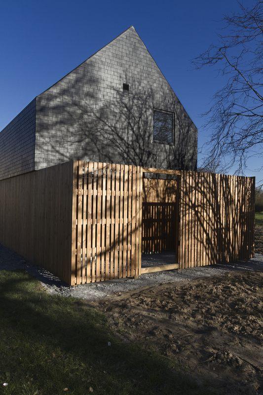 Maison ossature bois contemporaine par atelier 56s bruz 35 france const - Chauffage maison ossature bois ...