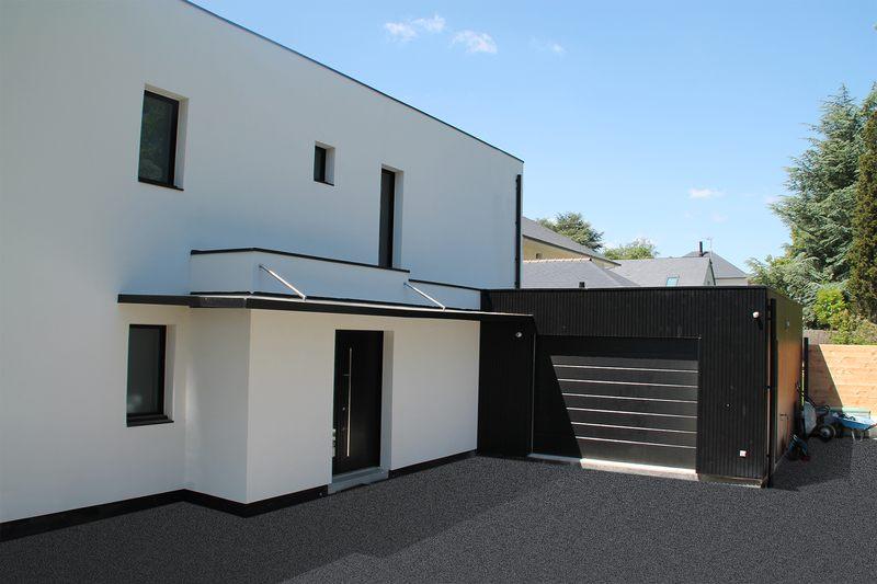 Entrée-garage-VP-Maison-contemporaine-par-Pascal-Dupuis-Orvault ...