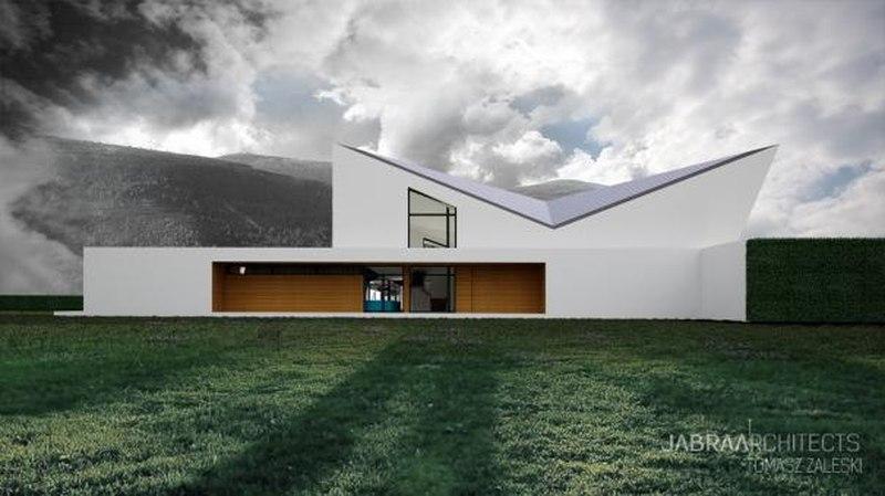 Pied de montagne - Skyfall House par Jabra Architects, Pologne
