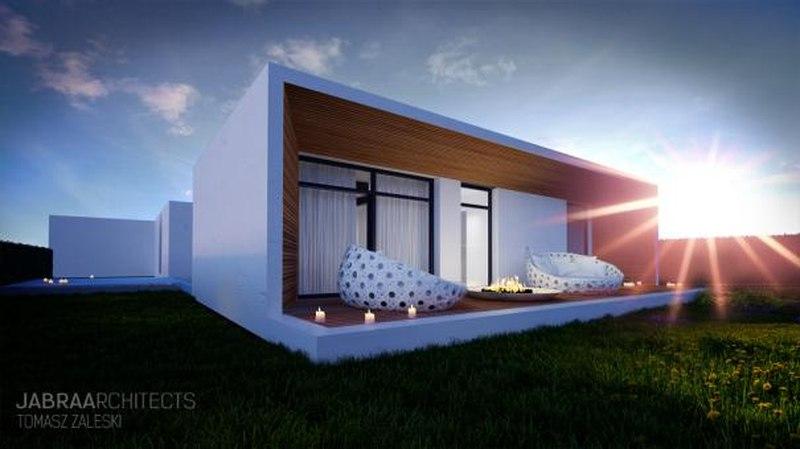 Vue arrière - Skyfall House par Jabra Architects, Pologne.jpg