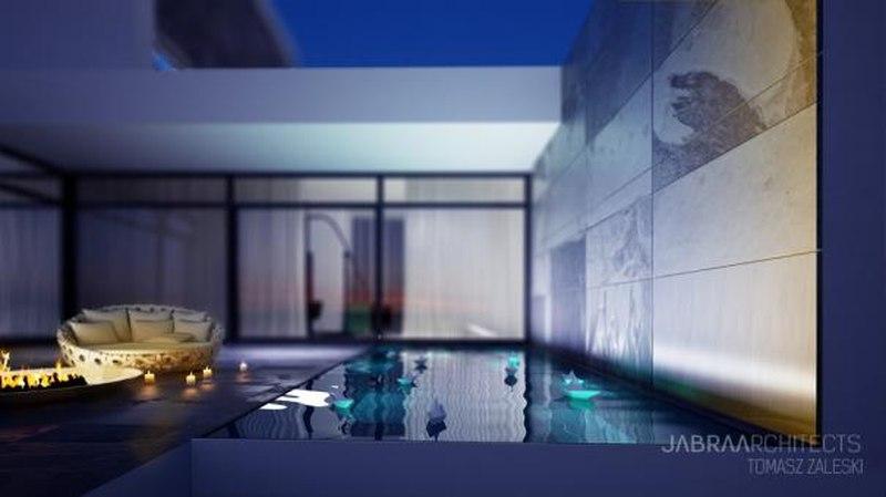 piscine - Skyfall House par Jabra Architects, Pologne.jpg