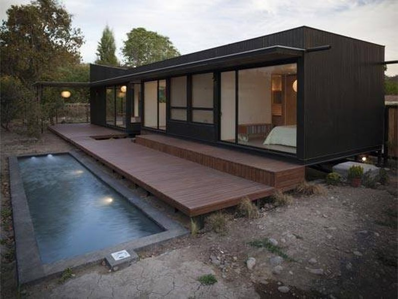 25 maisons container au design contemporain construire for Studio container prix
