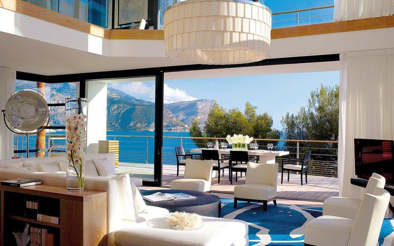 salon et terrasse - villa O - St Jean Cap Ferrat - France