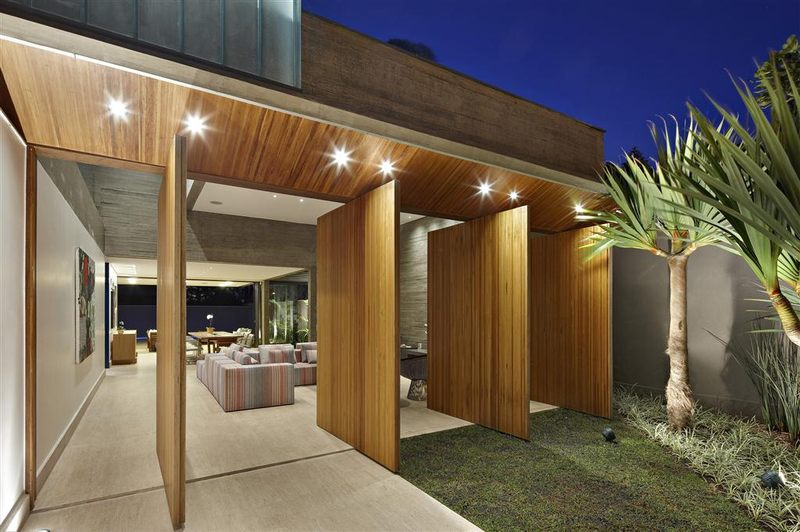 Modern residence par anastasia arquitetos belo horizonte for Salon ouvert sur terrasse