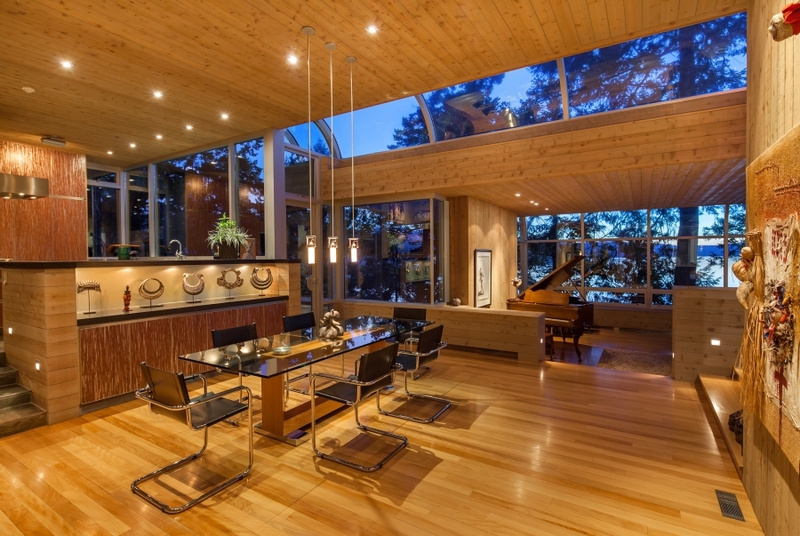 séjour - villa contemporaine en bois par Daniel Evan White - Saanich, Canada