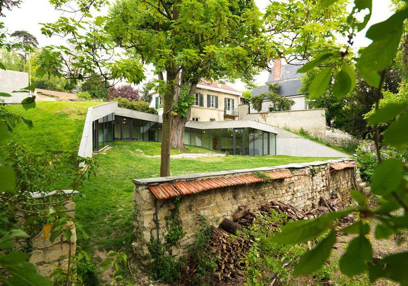 façade - Maison PLJ par  Hertweck Devernois Architectes Urbanistes, St gremain en laye, France - photo Siméon Levaillant