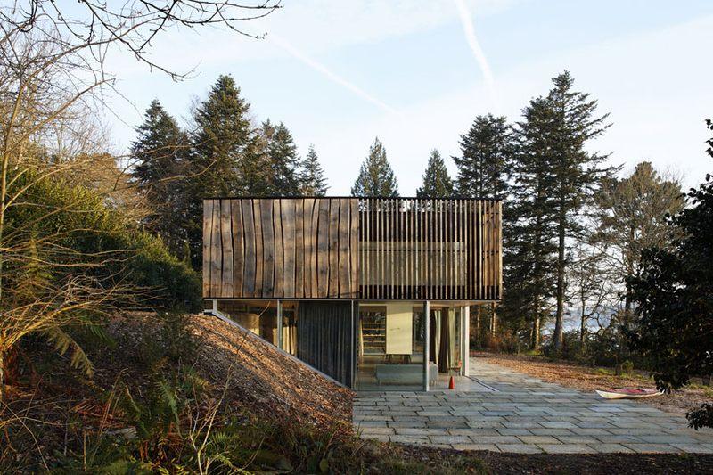 vue côté  - Maison D par Lode Architecture - Bretagne, France - Photo  Daniel Moulinet