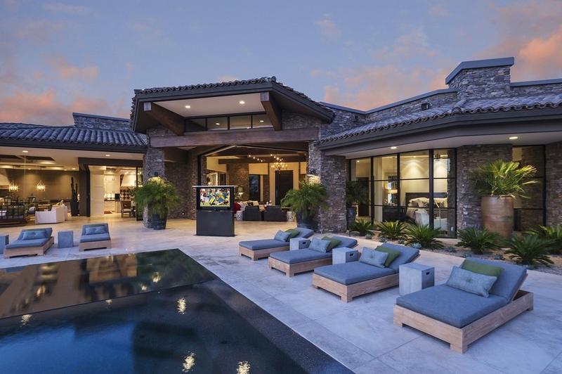 terrasse - villa du desert par Tor Barstad -Scottsdale, Usa