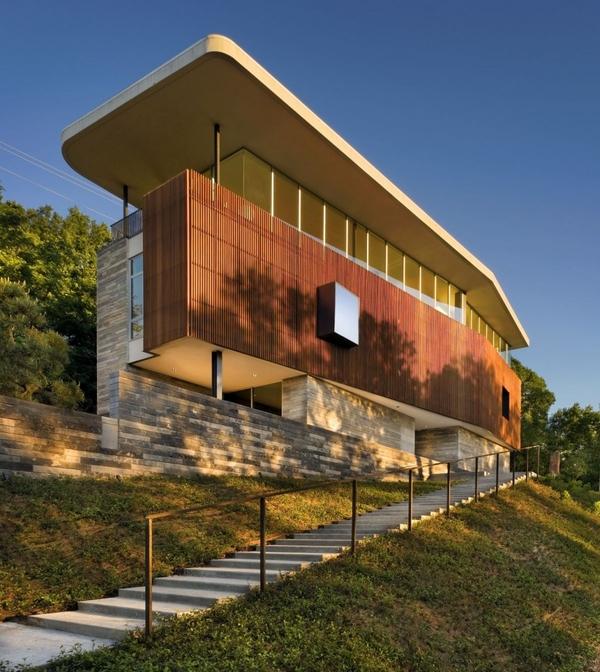 vue extérieure - East Windsor Residence par Alterstudio - Austin, Usa - Photo Paul Finkel