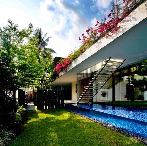 Guz architects tangga house construire tendance - La contemporaine villa k dans les collines de nagano au japon ...