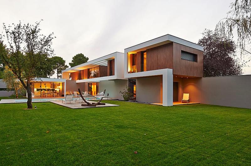 vue d'ensemble extérieure - Maison contemporaine par Hybre-architecte - Bordeaux - photo Philippe Caume