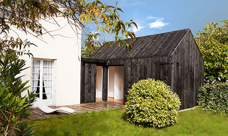 Extension bois par niney et marca architectes ambon 56 for Architecte extension bois