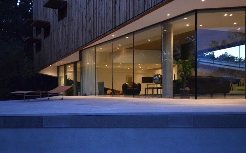 baie vitrée pliable - Maison Spirale par Portal Thomas Teissier Architecture - Catelnau Le Lez, France