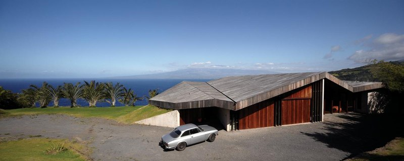façade entrée - Clifftop House Maui par Dekleva Gregoric Arhitekti - Maui, Hawaï