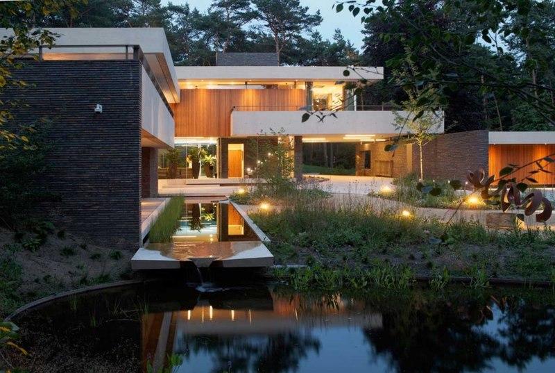 façade et bassin - The Dune Villa par HILBERINKBOSCH Architects - Utrecht, Pays-Bas
