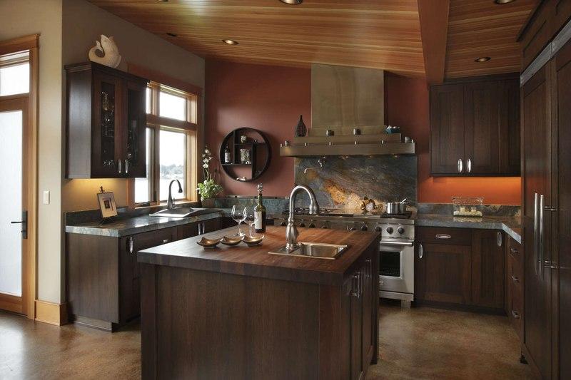 Cuisine Bois Et Pierre - Devil's Lake Home par Nathan Good Architects Lincoln , Usa Construire Tendance