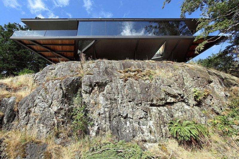 vue contrebas - Tula House par Patkau Architects - Quadra Island, Canada