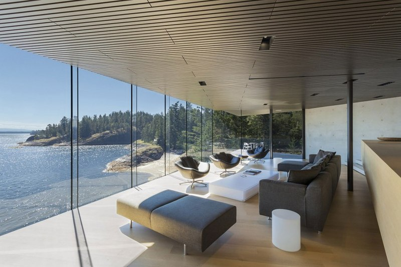 vue panoramique - Tula House par Patkau Architects - Quadra Island, Canada