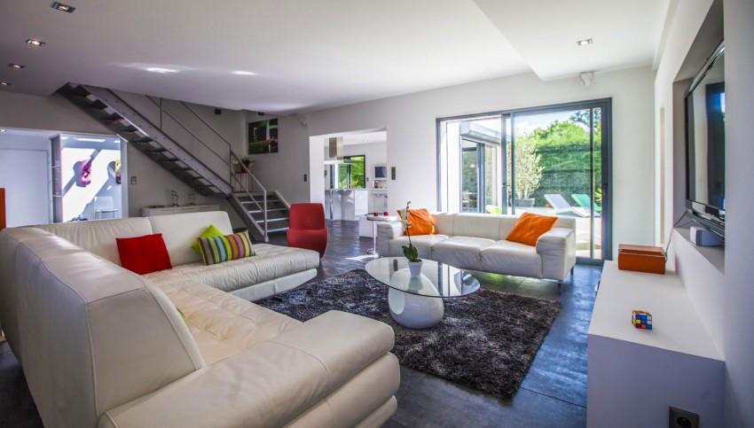 location maison contemporaine villa pop art france