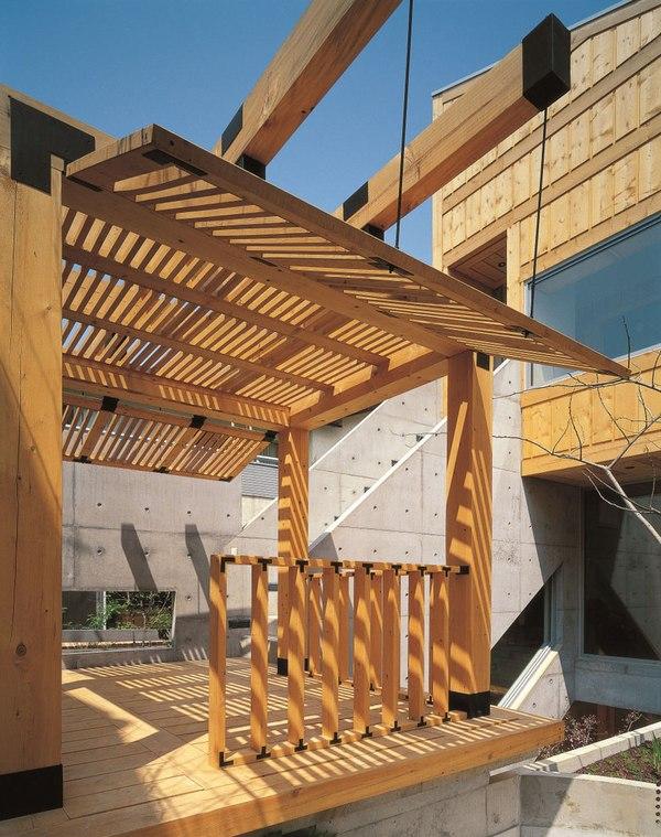 10 maisons contemporaines au savant dosage de bois et for Dosage beton terrasse