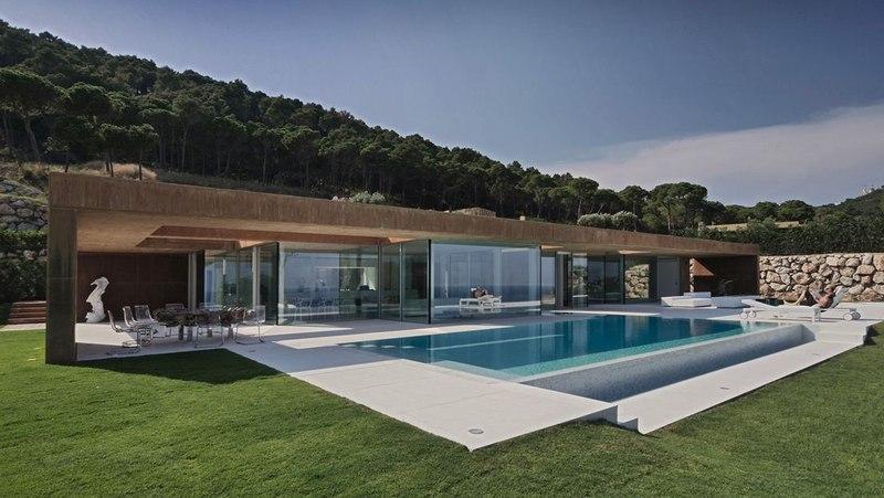 Fa ade piscine maison r habilit e par mano arquitectura - La contemporaine villa k dans les collines de nagano au japon ...