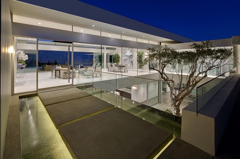 patio intérieur - Carla Ridge par McClean Design - Beverly Hills, Usa