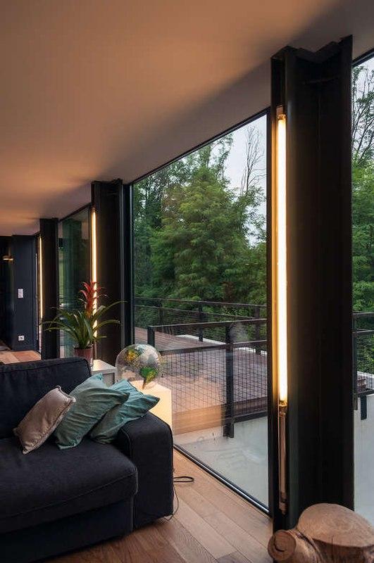 éclairages pièce de vie - maison Pegasus par Saint-Cricq architecte - Toulouse, France