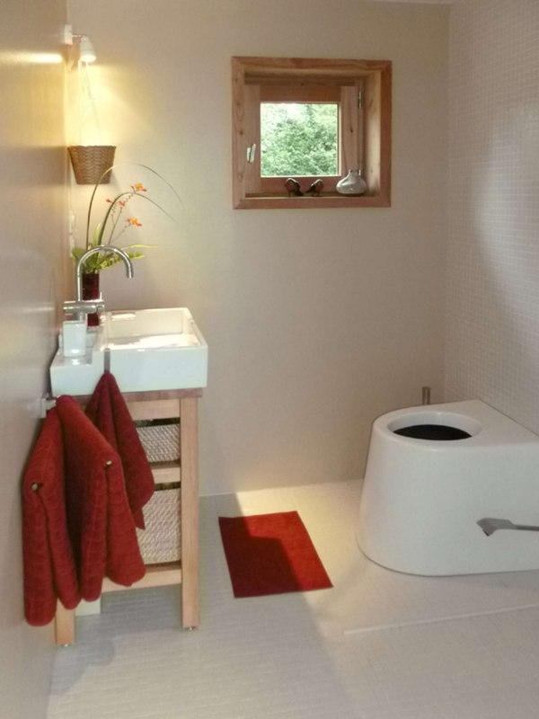 Salle de bains maison dans la prairie par arba - La contemporaine villa k dans les collines de nagano au japon ...