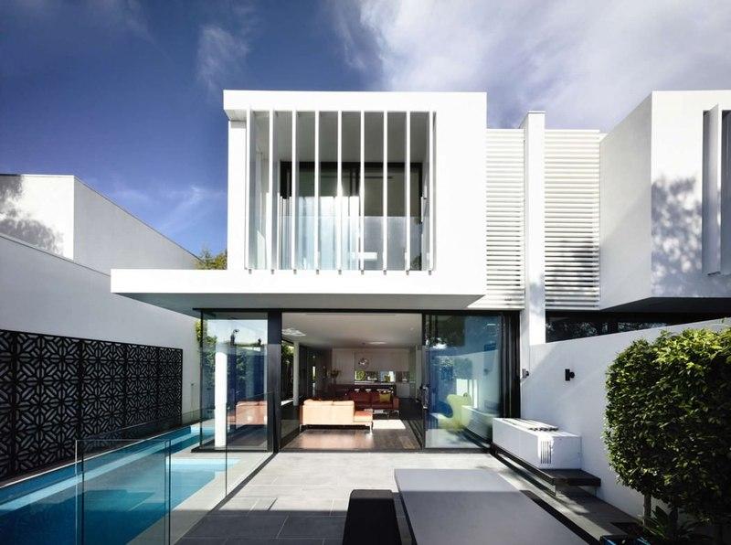 façade terrasse - Bayside townhouses par Martin Friedrich architects - Melbourne, Australie