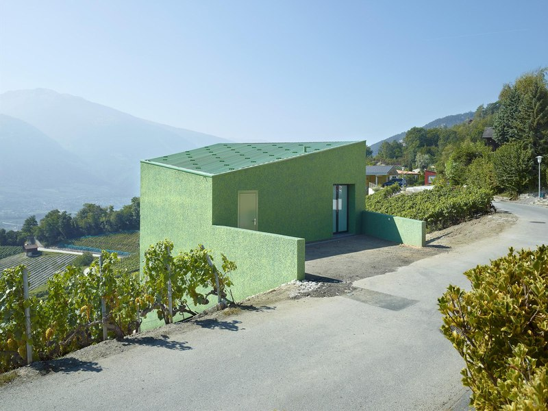 façade entrée - Maison Iseli par François Meyer architecture - Venthôme, Suisse