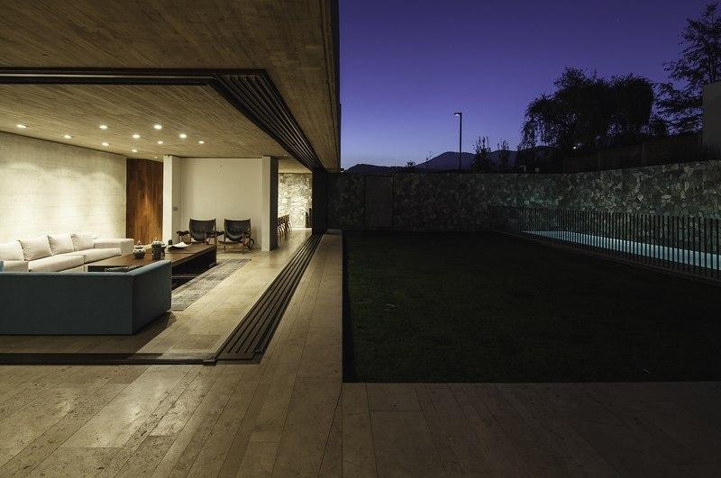 terrasse et piscine - SH House par 01arq - La Dehesa, Chili