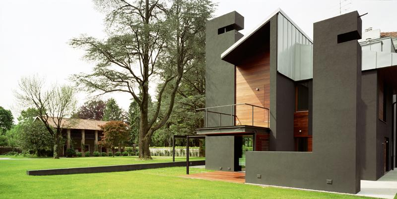 façade sud - NM House par GEZA Gri et Zucchi Architetti Associati - Tarcento, Italie