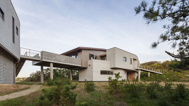 studio, maison et passerelle - House of Shifting Sands par Ruhl Walker Architects - Wellfleet, Usa