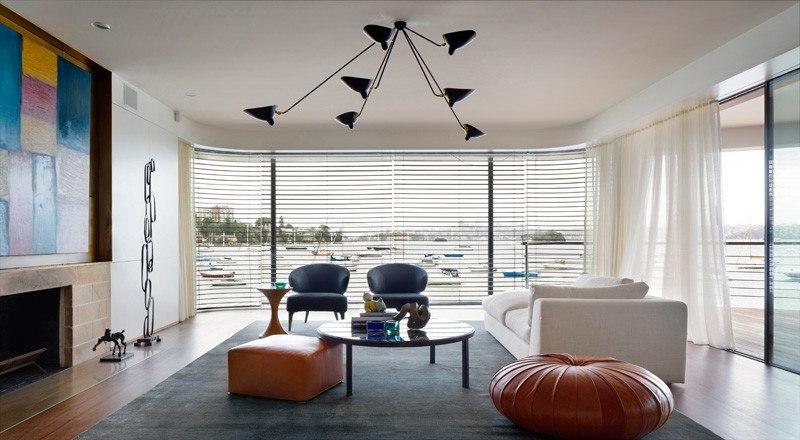 salon - Waterfront House par Luigi Rosselli Architects - Sydney, Australie