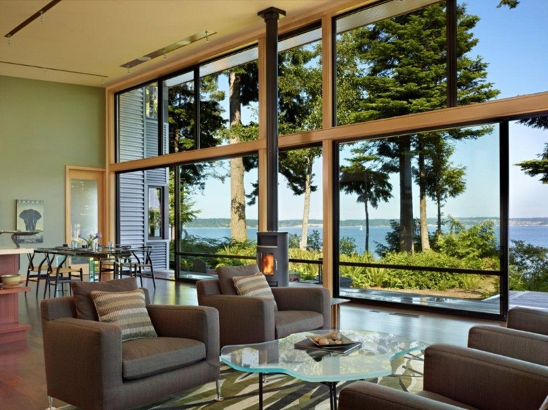 Salon - port-ludlow-house par Finne - Washington, USA
