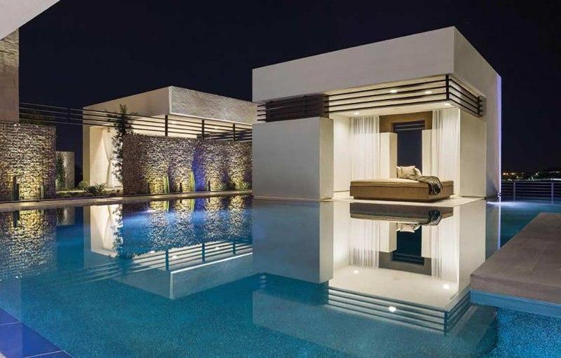 Superbe villa contemporaine de luxe avec vaste piscine aux for Villa luxe usa