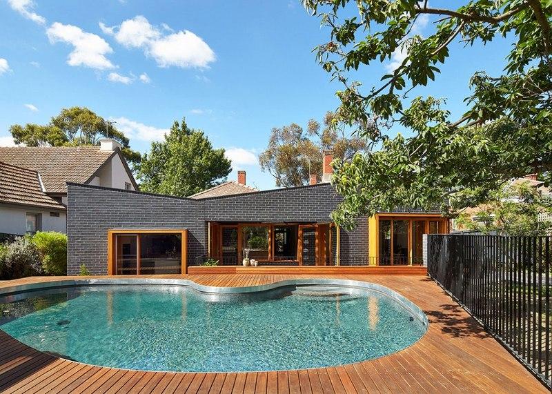 Magnifique maison r nov e en bois et en briques avec - Maison entrepot melbourne en australie ...