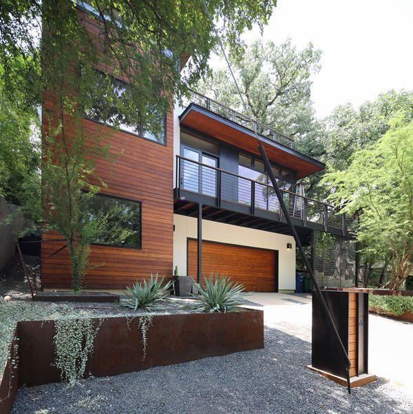 R novation contemporaine pour maison des ann es 80 mise en - Maison contemporaine dick clark architecture ...