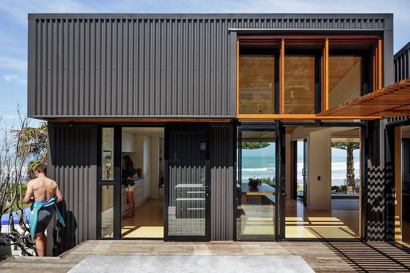 bardage m tallique pour maisons contemporaines construire tendance. Black Bedroom Furniture Sets. Home Design Ideas