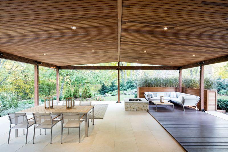 Salon & séjour terrasse - Résidence du Tour par Architecture Open Form - Québec, Canada