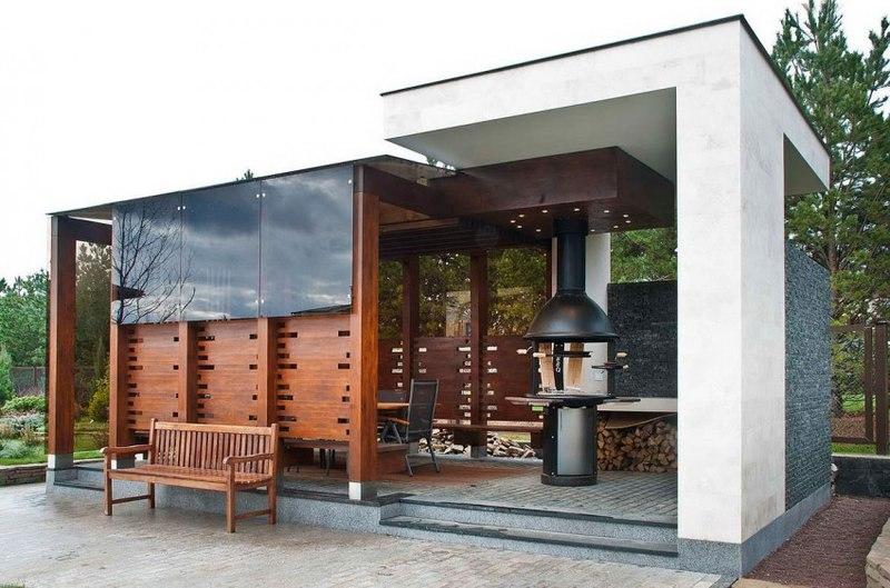 Splendide maison s house par fourth dimension moscou russie construire t - Barbecue en dur moderne ...