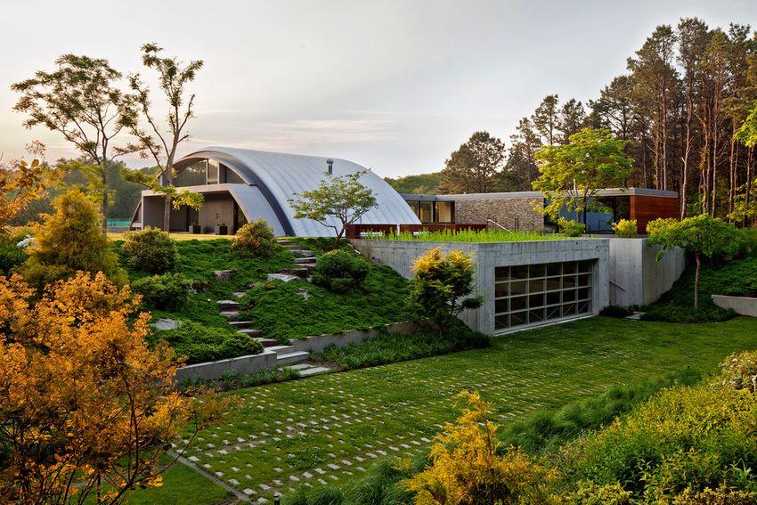 10 maisons contemporaines à toiture arrondie ou cintrée ...