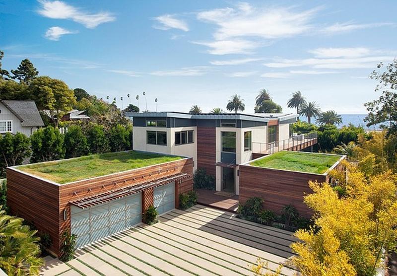 20 maisons contemporaines avec toiture v g talis e for Beach house designs usa