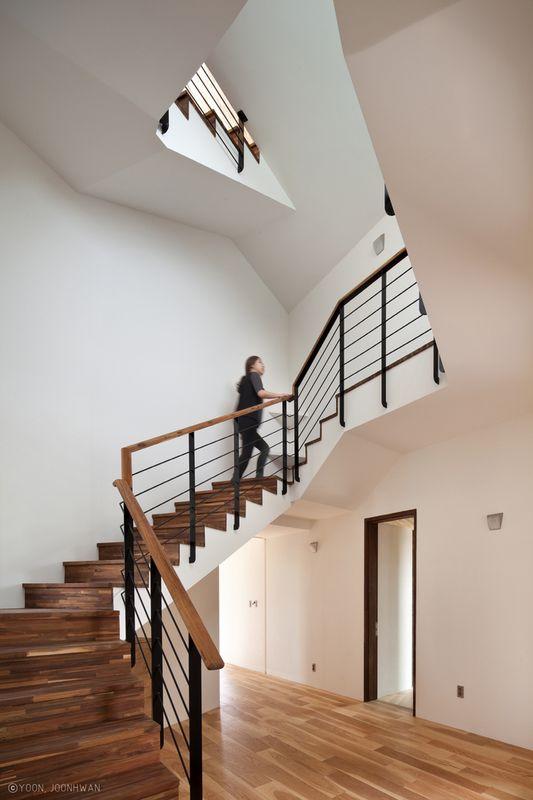 Maison contemporaine en forme de x en cor e du sud construire tendance - Maison s par domenack arquitectos ...