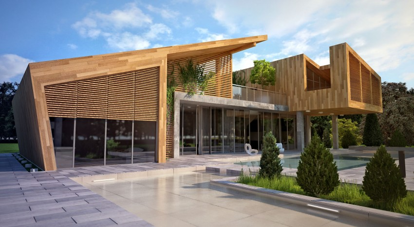 house in forest par bracia burawscy architekci varsovie pologne construire tendance. Black Bedroom Furniture Sets. Home Design Ideas
