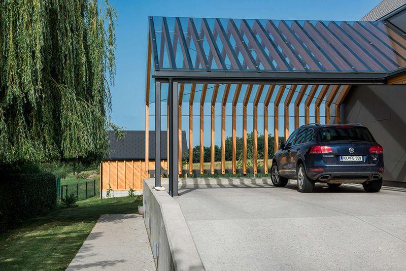 Belle architecture en bois pour une maison de campagne en Slovénie  Construi...