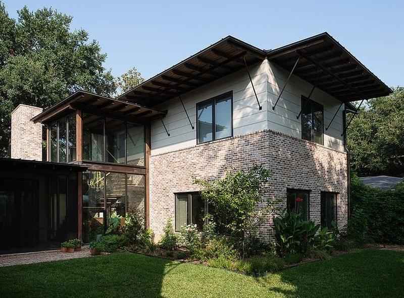 10 maisons briques contemporaines construire tendance for Liberty home builders