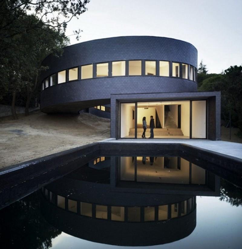 12 exemples de maison ronde construire tendance - Maison design moderne capital building ...