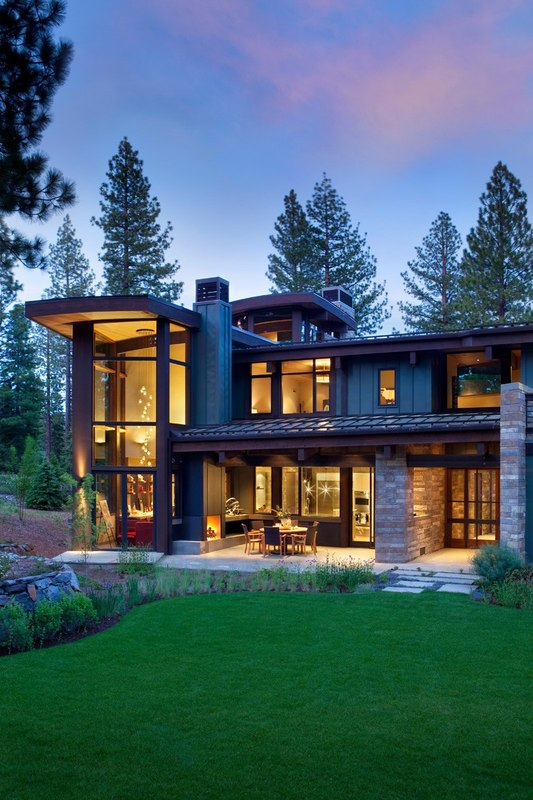 Atypique maison en bois et pierre en californie aux usa for Beautiful medium houses